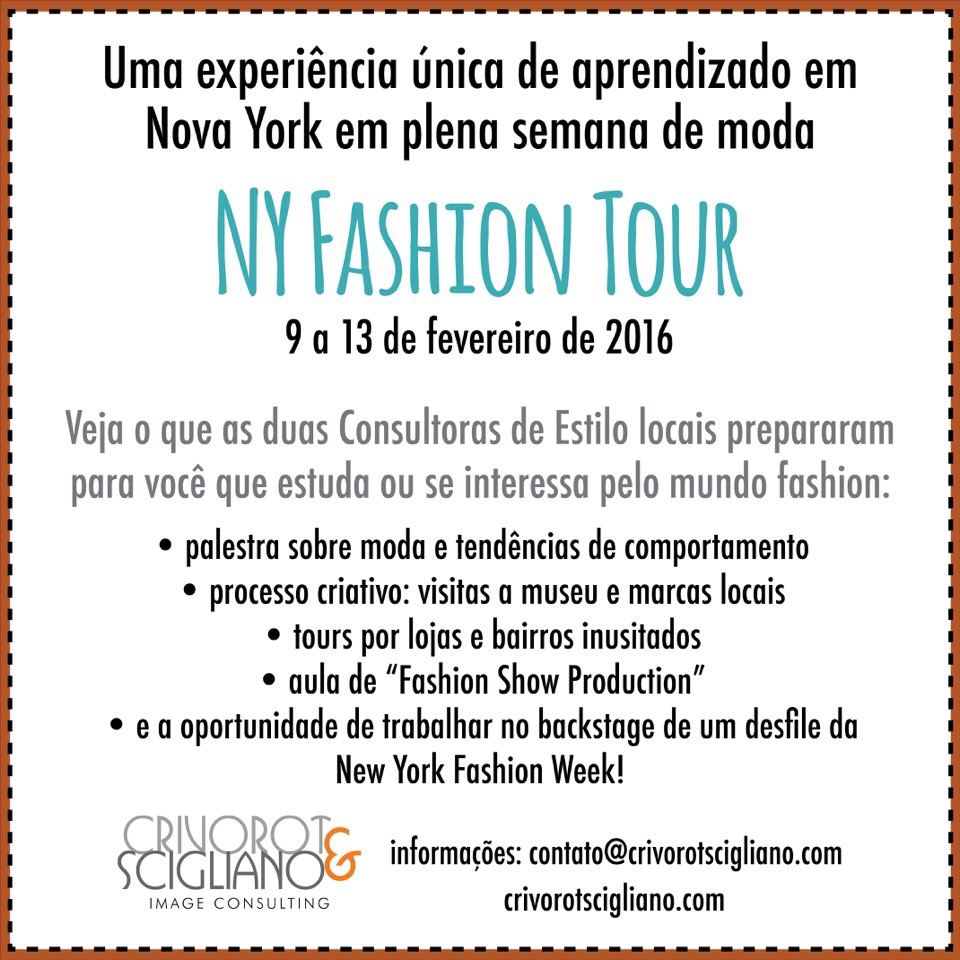 NY fashion Tour - NY Fashion Tour Fevereiro 2016 - Curso de Moda em Nova York - Backstage de desfile - NYFW - semana de moda de NY